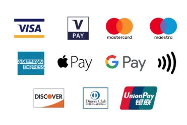 accettiamo tutti i metodi di pagamento
